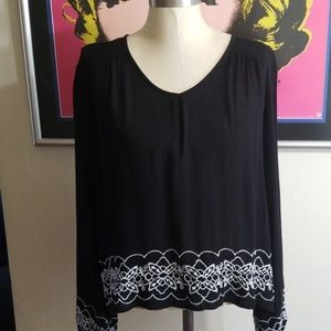 PATRONS OF PEACE BOHO EMBROIDERED BLOUSE  Small